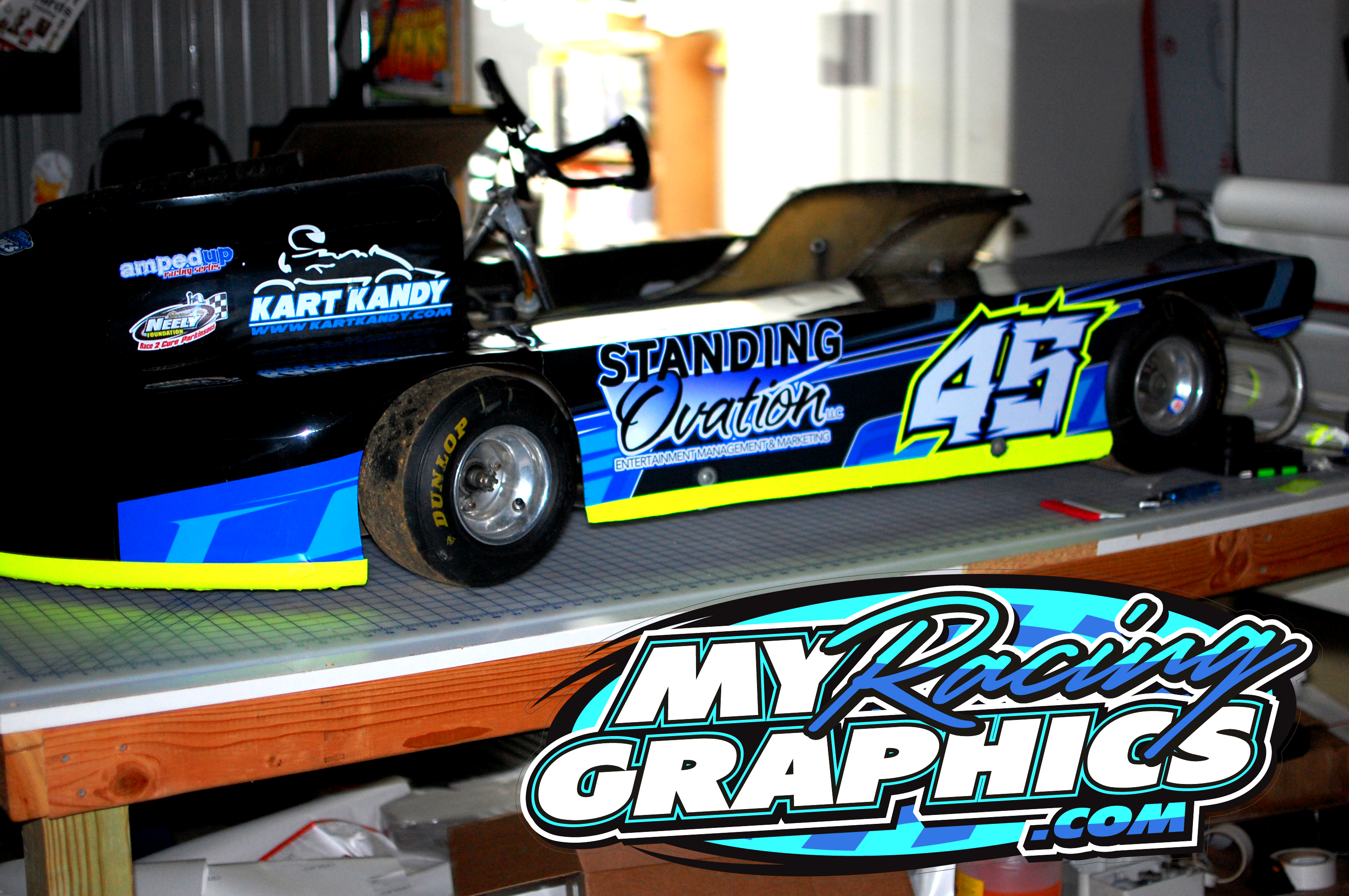 Mike Curran go kart graphics wrap