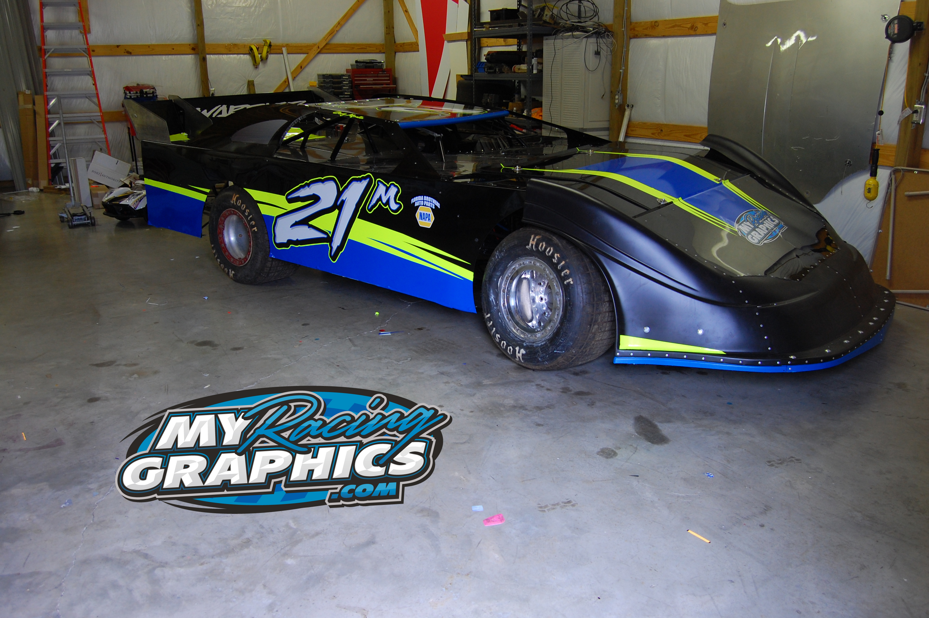 Dirt Latemodel Graphics and lettering